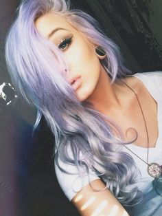 ombre violet and grey... IN LOVE