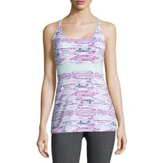 Soybu Cierra Printed Racerback Tank ($21) ❤ liked on Polyvore featuring tops, pink moon, empire waist tops, strappy tank, sleeveless tops, scoop neck tank top and sleeveless tank tops