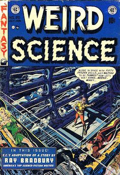Oh man, Wally Wood, Al Williamson and Frank Frazetta in one issue? Awesome-sauce! Plus, you gotta love the 1950s sci-fi nerd wish fulfillment of Woods' cover.  Pencil Ink comic book artists blog 1950s 1960s 1970s 1980s : Weird Science v2 #20 - Wally Wood art & cover, Al Williamson / Frank Frazetta art