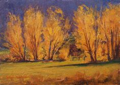 "SOLD-""Golden Light"" 5x7 oil by Dix Baines through Dix Baines Stuidio at 720.353.2670 www.dixbaines.com"