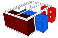 IKEA hack: The Kallax shelf and the Malm chest of drawers become .-IKEA-Hack: Aus dem Kallax Regal und der Malm Kommode wird ein Bett mit Unterbauschrank IKEA-Hack: The Kallax shelf and the Malm chest of drawers become a bed with a built-in cupboard Ikea Hacks, Diy Hacks, Ikea Bed Hack, New Swedish Design, Diy Furniture, Furniture Design, Furniture Dolly, Living Furniture, Office Furniture