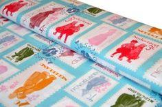 Fabric poststamps Mies en Moos     Mies & Moos Postzegels Jipshop