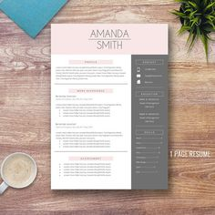 Teacher Resume Template for Word 1 and 2 Page by ResumePress