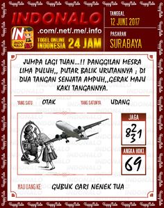 Bocoran JP 2D Togel Wap Online Indonalo Surabaya 12 Juni 2017