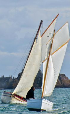 Jigsaw is a replica of a 19th Century Jersey La Rocque fishing boat.