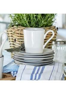 Costa Nova - Beja - hrnek Blue Coffee Mugs, Coffee Mug Sets, Mugs Set, Vintage Enamelware, Fresh Seafood, House Painting, Dinnerware, Costa, Stoneware