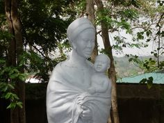 Mary, Mother, Model and Companion in the Novitiate Garden in Ghana, Africa, reminds us that we walk with Mary in our struggles.