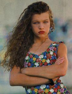 Milla Jovovich in Model September 1988