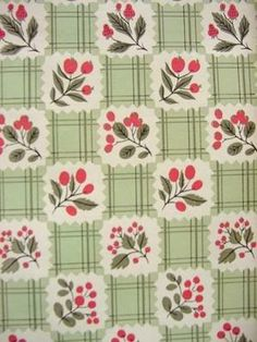 More cool wallpaper designs to share. 1950s Wallpaper, Fabric Wallpaper, Designer Wallpaper, Pattern Wallpaper, Vintage Fabrics, Vintage Prints, Retro Vintage, Textile Patterns, Print Patterns