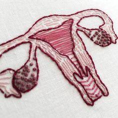 Such a pretty uterus! Modern Embroidery, Embroidery Art, Feminist Art, Fun Crafts, Cross Stitch, Crafty, Etsy, Cool Stuff, Sewing