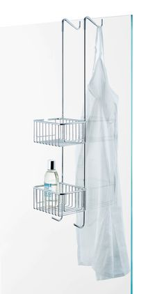 Hang-up basket for shower cabin