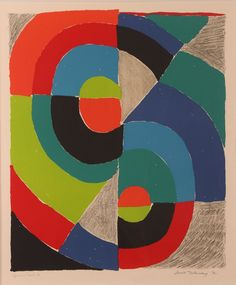"""Sonia Delaunay orig litho """"Composition"""" : Lot 667"""