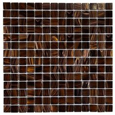 Merola Tile Coppa Brown Gold 12 in. x 12 in. x 4 mm Glass Mosaic Tile
