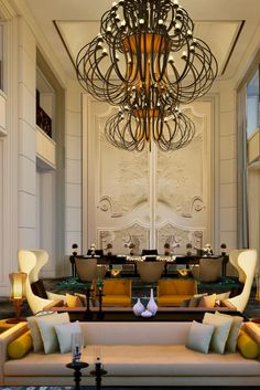 Be awed by this contemporary, French-colonial inspired boutique hotel centrally located in Ho Chi Minh, breakfast included Vietnamese Restaurant, French Colonial, Reception Design, Floor To Ceiling Windows, Beautiful Hotels, Ho Chi Minh City, Wall Decor, Contemporary, Interior