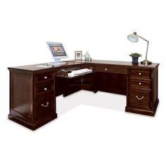 Espresso L Desk With Left Return 13345 Get Gl Top Soft Wood Good Reviews National Business Furniture