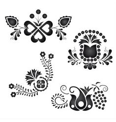 Illustration about Traditional folk ornaments isolated on white background. Illustration of flowery, illustration, ornaments - 27771796 Folk Embroidery, Embroidery Stitches, Embroidery Patterns, Machine Embroidery, Modern Embroidery, Moonlight Painting, Antique Quilts, Illustrations, Embroidery Techniques