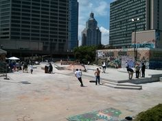 downtown skate park - Google Search Skate Park, Street View, Indoor, Urban, Architecture, City, Image, Google Search, Green