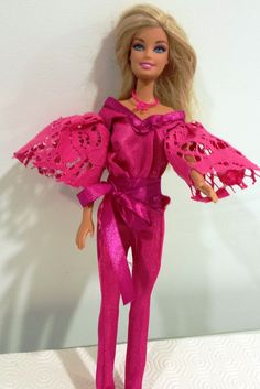 Pink lace disco outfit