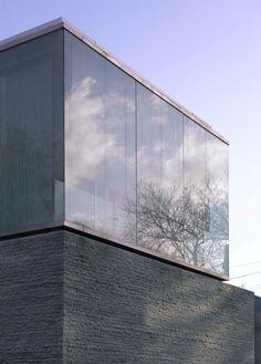 Granitplatten moderne Häuser bauen mit tollen Spiegeleffekten