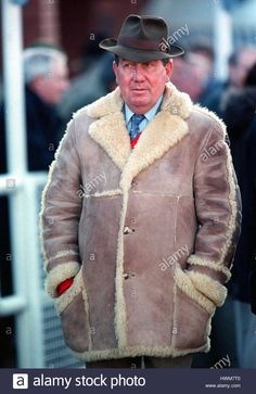 Download this stock image: DAVID NICHOLSON RACE HORSE TRAINER 14 February 1997 - hwm7t0 from Alamy's library of millions of high resolution stock photos, illustrations and vectors.