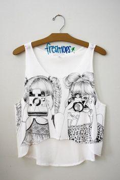 Camera Girls Crop Top - Fresh-tops.com I LOVE FRESH TOPS!