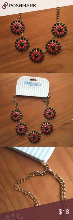 cute black and red necklace new black and red necklace. great for team spirit! Jewelry Necklaces