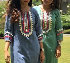 Beautiful detailing - All About Neck Designs For Suits, Dress Neck Designs, Blouse Designs, Pakistani Fashion Casual, Pakistani Dress Design, Indian Fashion, Kurta Designs Women, Salwar Designs, Stylish Dresses For Girls