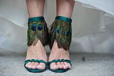 Peacock bridesmaids shoes!!