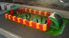 table soccer - Table soccer is a popular pastime in various locations around the world, so the Inflatable Human Foosball Table is created to offer players the abi. Backyard For Kids, Backyard Games, Human Foosball, Soccer Birthday, Water Toys, Cool Rooms, Outdoor Fun, Deco, Party Games