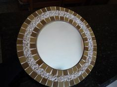 Espelho Decorado Com Mosaico - R$ 85,00 no MercadoLivre
