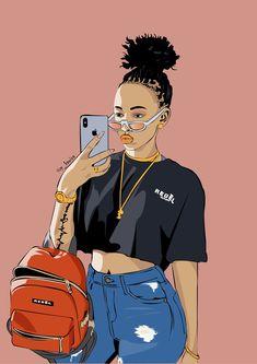 Huddah monroe art art by paulkawira ha! this pic captures my Cartoon Kunst, Dope Cartoon Art, Black Love Art, Black Girl Art, Drawings Of Black Girls, Trill Art, Black Girl Cartoon, Black Art Pictures, Black Artwork