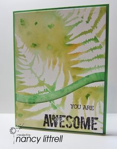 2015-17 In colors Stencil Monoprint by nancy littrell - Cards and Paper Crafts at Splitcoaststampers