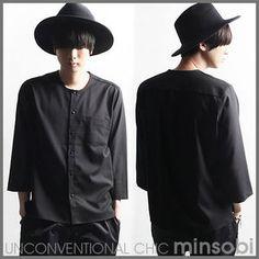 No-collar Shirt – 7 parts sleeve length (top-7324)