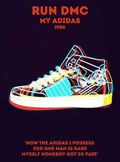 Run-D.M.C, My Adidas | 19 Perfect Minimalist Rap Posters