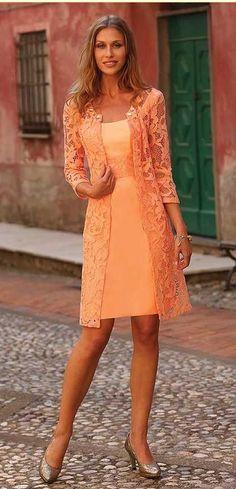 Orange Lace Women Dresses,Mother of the Bride Dress,Formal Evening Dress