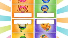 Complete your little one's party table with these placecards based on the Nick Jr. series, Team Umizoomi! Print, cut out and enjoy.