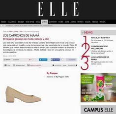 Bypeppas y su modelo KELLY en la revista ELLE España. #diadelamadre #taconmidi #bailarinas #telalino #bypeppas