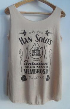 Star Wars Han Solo Tank Top Tshirt Pop Punk Rock Tank Top Vest Women T shirt Movie T-Shirt SizeS,M,L
