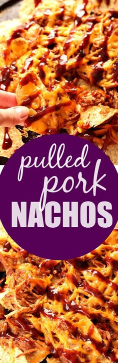 Pulled Pork Nachos - a 4-ingredient game day or party food you won't be able to stop eating! So easy yet crazy good!