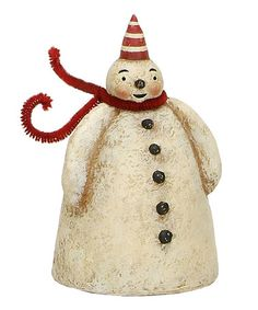 Take a look at this Mr. Cheers Snowman Figurine by Primitives by Kathy on #zulily today!