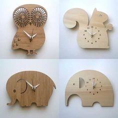 Bamboo Wall Clocks by Decoylab
