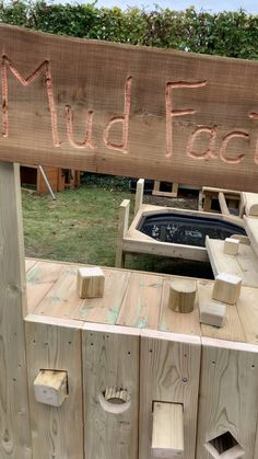 More than a mud kitchen... production line/ball run/role play......imaginative play..... a million ideas !!!!