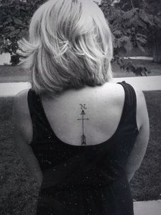 Arrow, cross and compass all in one. True North
