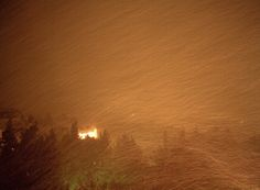 Athens, Greece, tonight February 28, 2012. A new heavy snowfall started.