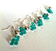 bridesmaids earrings set of 3 aqua glass and by GemsAndSparkles, £15.00