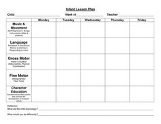 Lesson Plans Preschool  MayPdf  InfantToddler Room
