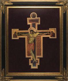"""Byzantine Crucifix Icon by Cimabue 16"""" x 20"""" $150.00 #Catholic #Christ #Crucifixion"""