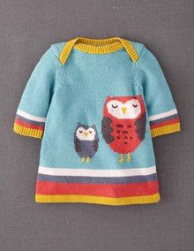 Super cute Mini Boden owl Knitted Dress £26 #magicalmenagerie