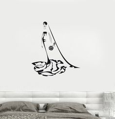 Vinyl Decal Wedding Woman Bride Bridal Shop Wall Stickers Mural (ig2715)