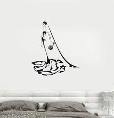 Vinyl Decal Wedding Woman Bride Bridal Shop Wall Stickers Mural (ig2715)